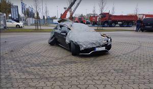 Crash : une Mercedes-AMG C63S neuve au tas
