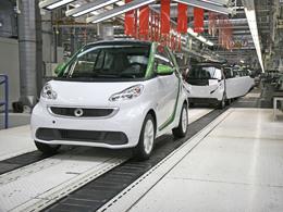 Smart annonce le début de la production de la Fortwo électrique