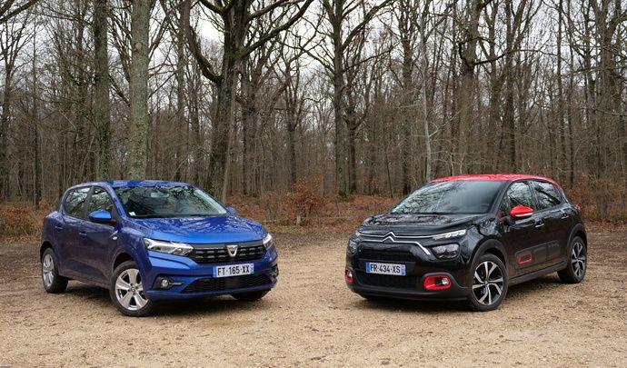 Comparatif - Dacia Sandero VS Citroën C3 : le prix n'est plus son seul argument