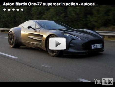 L'Aston Martin One-77 file à plus de 350 km/h en vidéo...