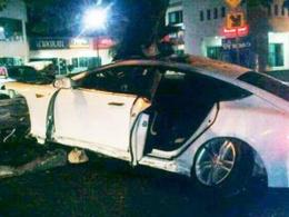 Une deuxième Tesla Model S en feu après un crash