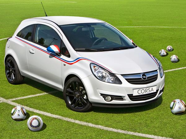 L'Opel Corsa supporter amovible de l'équipe de France