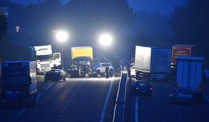 Carambolage sur l'autoroute A13 dans les Yvelines