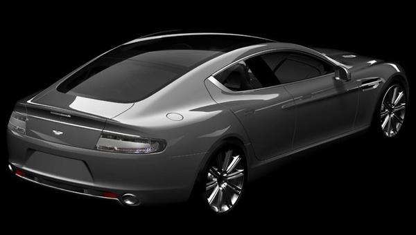 L'Aston Martin Rapide montre son cul