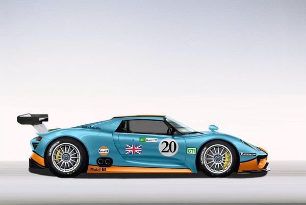 Vous prendrez bien une Porsche 918 de compétition ?