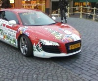 "Audi R8 ""sapin de Noël"""