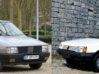 Fiat Uno 1.3 vs Peugeot 205 SR: les reines des citadines dans une lutte sans merci