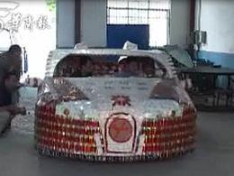 Des étudiants chinois fabriquent une Bugatti Veyron à partir de paquets de cigarettes vides