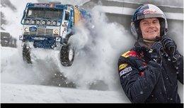[vidéo] David Coulthard drifte en Kamaz dans la neige