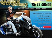 jeu concours qui veut gagner la moto de johnny. Black Bedroom Furniture Sets. Home Design Ideas
