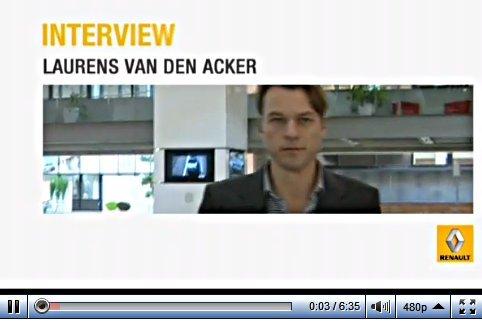 6mn avec Laurens van den Acker, patron du design Renault