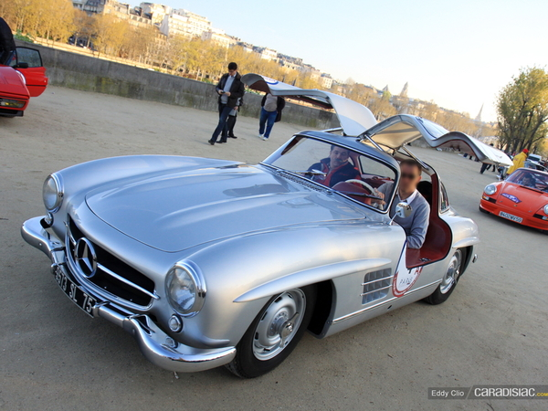 Photos du jour : Mercedes 300 SL Gullwing (Rallye de Paris Classic)