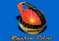 Peinture sur casque : Rainbow Colors, les heaumes de goût