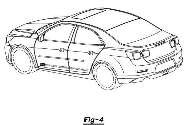 Brevets en fuite : la Chevrolet mystère (Malibu, Impala, Epica ?)