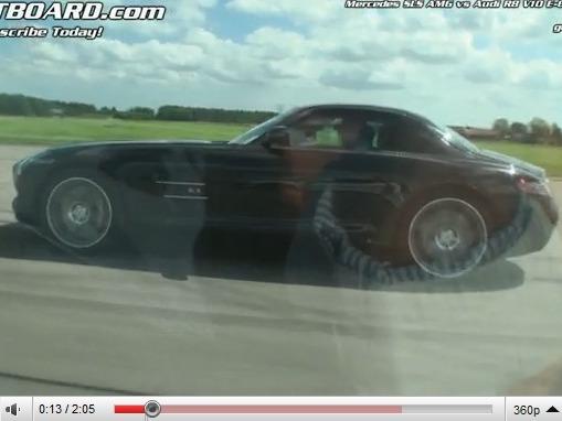 Mercedes SLS vs Audi R8 V10 : la leçon de l'étoile
