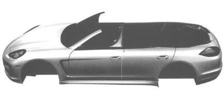 Porsche Panamera Cabriolet : des dessins techniques révèlent son existence