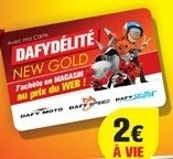 Dafy: la carte Dafydélité New Gold