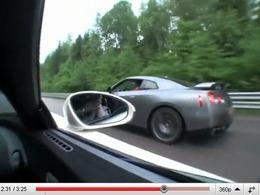 Bugatti Veyron vs Nissan GT-R Switzer P800, encore ! Mais cette fois...