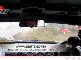 Nissan 200SX S15 en ouverture de rallye : de la glisse au ras des arbres
