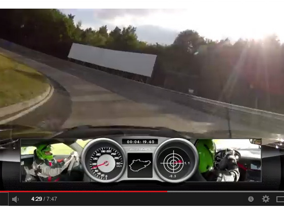 Ring Folies : la Mercedes SLS AMG Black Series en 7'25''