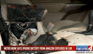 Une batterie low cost d'iPhone réparé fait partir sa voiture en flammes