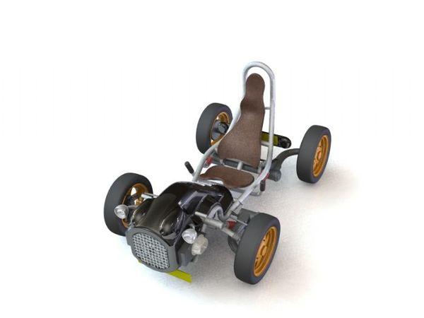 Design : Burton 2CV kit car par Roel Verhagen : très minimal