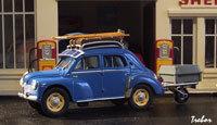 Miniature : 1/43ème - RENAULT 4CV Luxe R1062