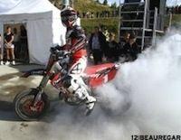 Supermotard championnat de France Alpe d'Huez 2012: Bidart prend une sérieuse option pour le titre