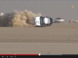 Vidéo - Spectaculaire accident de la Honda Insight Hasport sur le lac salé de El Mirage
