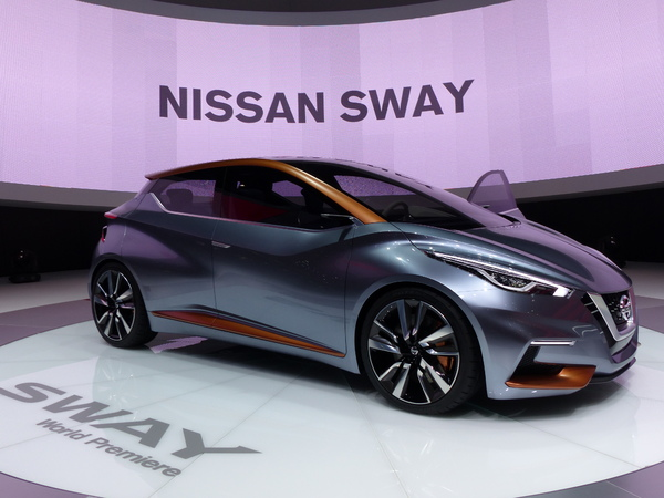 nissan sway concept la future micra en direct du salon de gen ve 2015. Black Bedroom Furniture Sets. Home Design Ideas