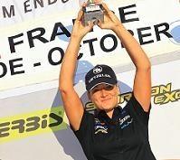 Ludivine Puy s'adresse à vous tous au soir de son second titre de championne du monde.