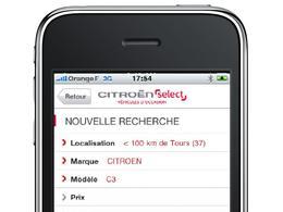 Citroën affiche ses occasions en vitrine sur l'iPhone