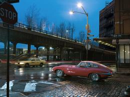 Une Jaguar Type E à New York, en 2011...