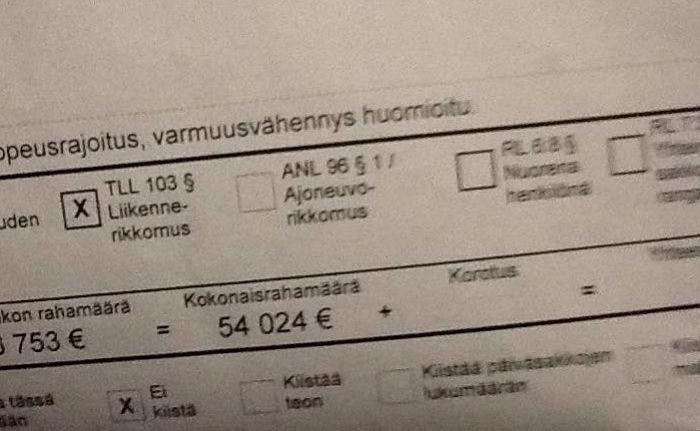 finlande 54 000 d 39 amende pour un exc s de 23 km h. Black Bedroom Furniture Sets. Home Design Ideas
