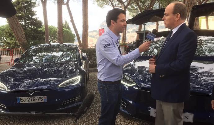Salon de l'auto Monaco 2017 - interview vidéo exclusive du Prince Albert