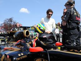 Bruno Senna au volant d'une Lotus Renault le 1er mai dernier, à Spa