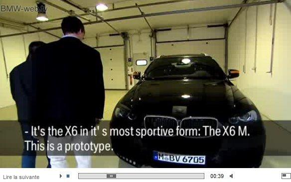 Vidéo officielle : BMW X6 M, un V8 biturbo au programme