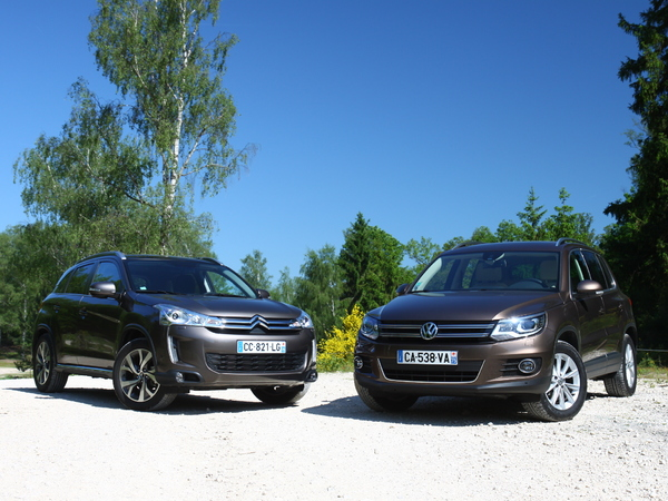 comparatif vid o citro n c4 aircross vw tiguan se croire trop beau. Black Bedroom Furniture Sets. Home Design Ideas