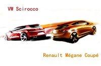 VW Scirocco vs Renault Megane Coupé : face à face (+sondage)