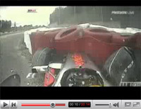 F1 GP d'Europe: le crash d'Hamilton en vidéo