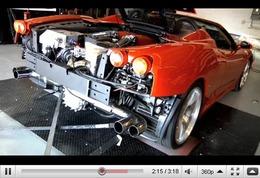 Réveil Auto - Ferrari F430 Spider Underground Racing : 1000ch sinon rien