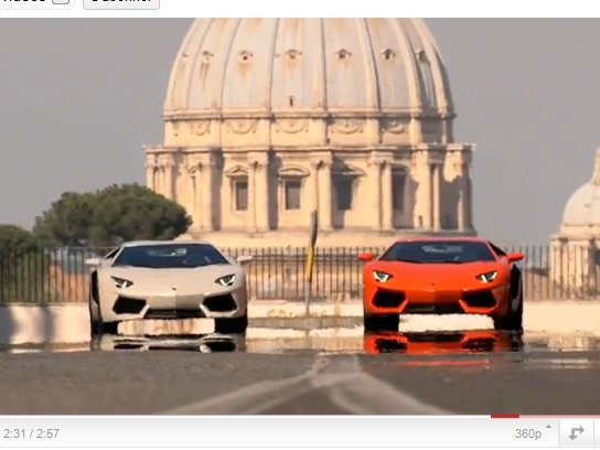 [vidéo] Deux Lamborghini Aventador en week-end à Rome