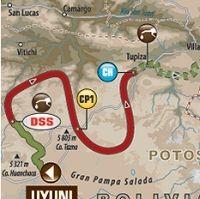 Dakar - étape 7 : le parcours du jour