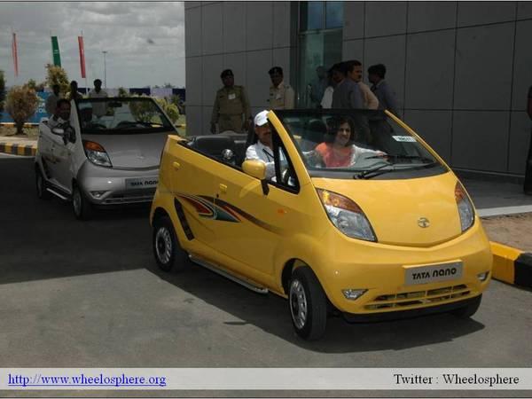 La Tata Nano en version cabriolet !