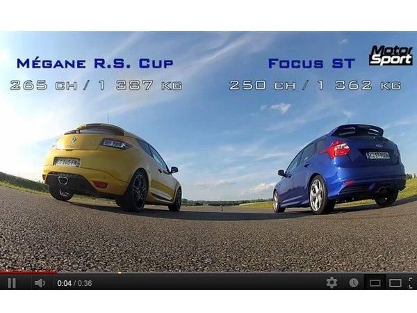 """[vidéo] """"Drag Race"""" entre Ford Focus ST et Renault Megane R.S par Motorsport"""