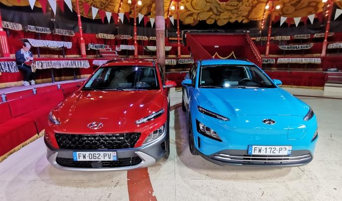 Hyundai Kona Electric & Hyundai Kona Hybrid: duo efficient - Salon Caradisiac Electrique/hybride 2021
