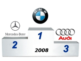 BMW et Mercedes en recul sur 2008 mais toujours devant Audi