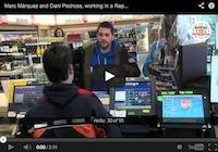 Caméra cachée: Pedrosa et Marquez chez Repsol (vidéo)