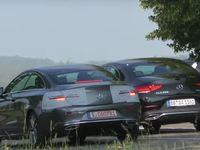 Le futur coupé Classe E restylé surpris aux côtés de la Mercedes CLS