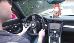 Il installe un jeu vidéo dans sa Porsche 911